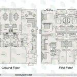 Bedroom Duplex Floor Plans Saadiyat Beach Villas Island
