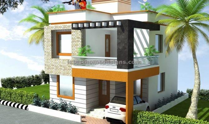 Bedroom Duplex House Elevation Design Latest Home Designs