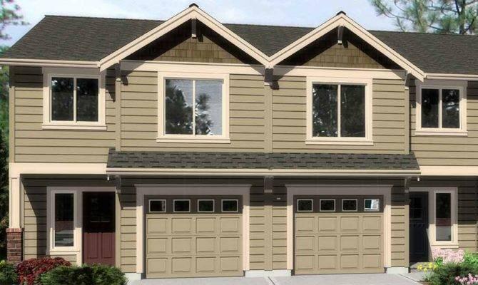 Bedroom Duplex House Plans Town