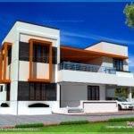 Bedroom Flat Roof House Home Kerala Plans