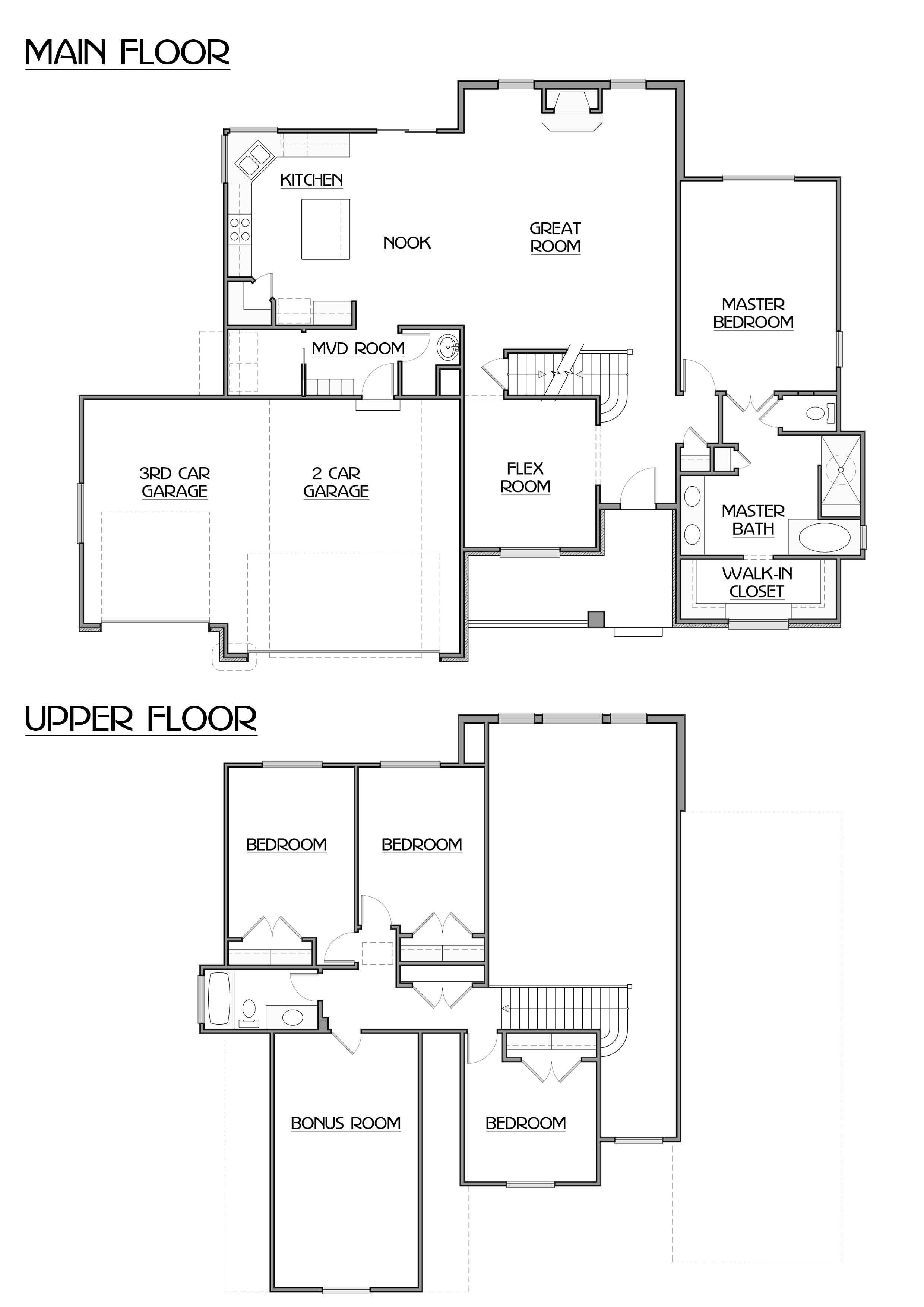 Bedroom Floor Plans Bonus Room Theenz