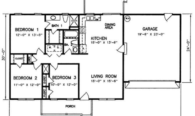 Bedroom Garage House Plans Under Square Feet