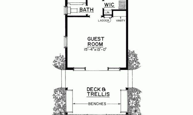 Bedroom Guest House Plans Homes Floor