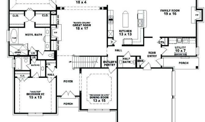 Bedroom House Blueprints Cozy Design Plans Two
