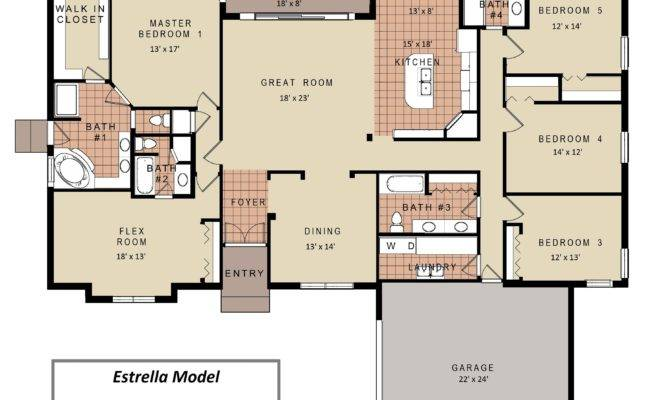 Bedroom House Floor Plans Models Modern