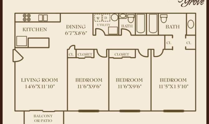 Bedroom House Floor Plans Square Feet