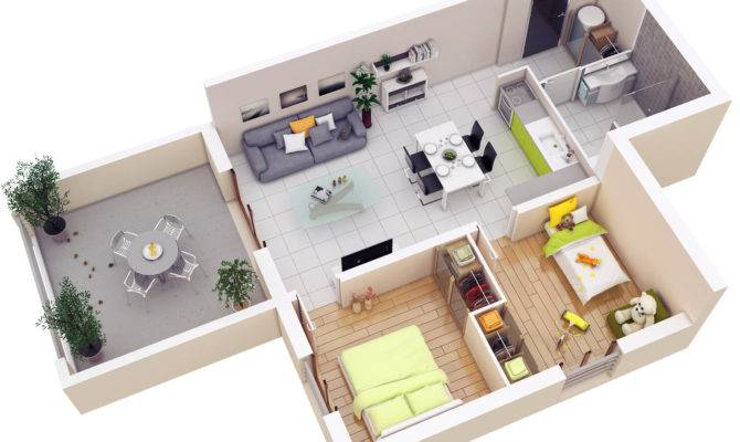 Bedroom House Plan Design Two Simple