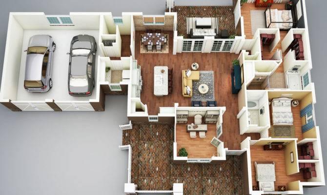 Bedroom House Plans Basement Layout