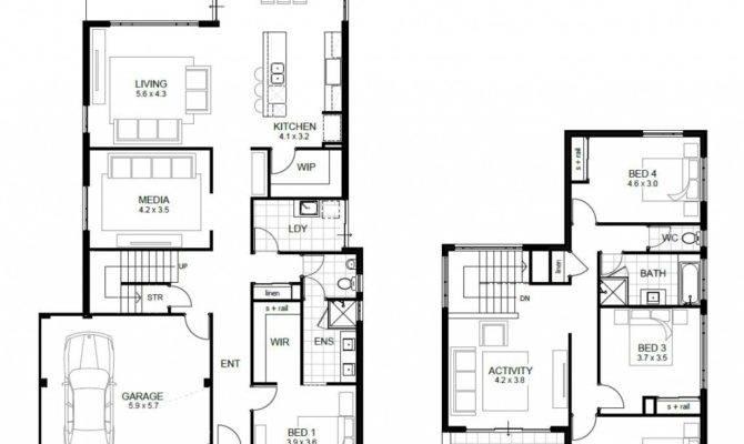 Bedroom House Plans Designs Unique Two Story