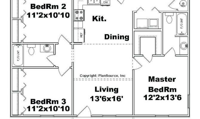 Bedroom House Plans Garage Beautiful Small