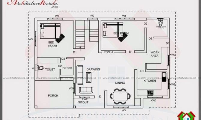 Bedroom House Plans Kerala Single Floor Savae