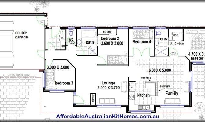Bedroom House Plans Kit Homes Australian Steel Framed