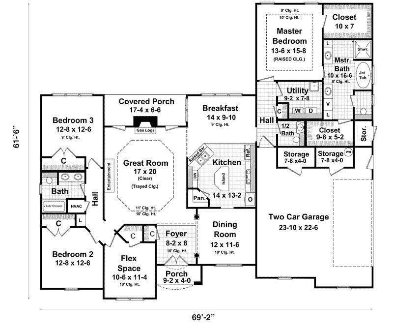 Luxury Basement Designs: Bedroom House Plans Walkout Basement Luxury Ranch