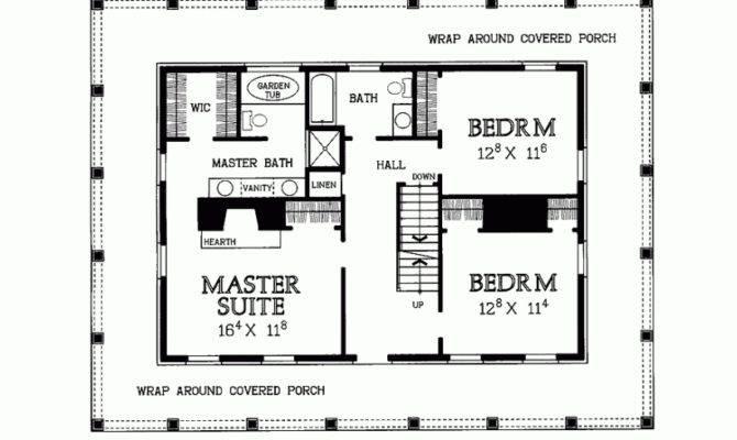 Bedroom House Plans Wrap Around Porch