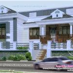 Bedroom Kerala Style Single Story Budget Villa Indian House Plans