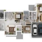 Bedroom Large Garage House Plans