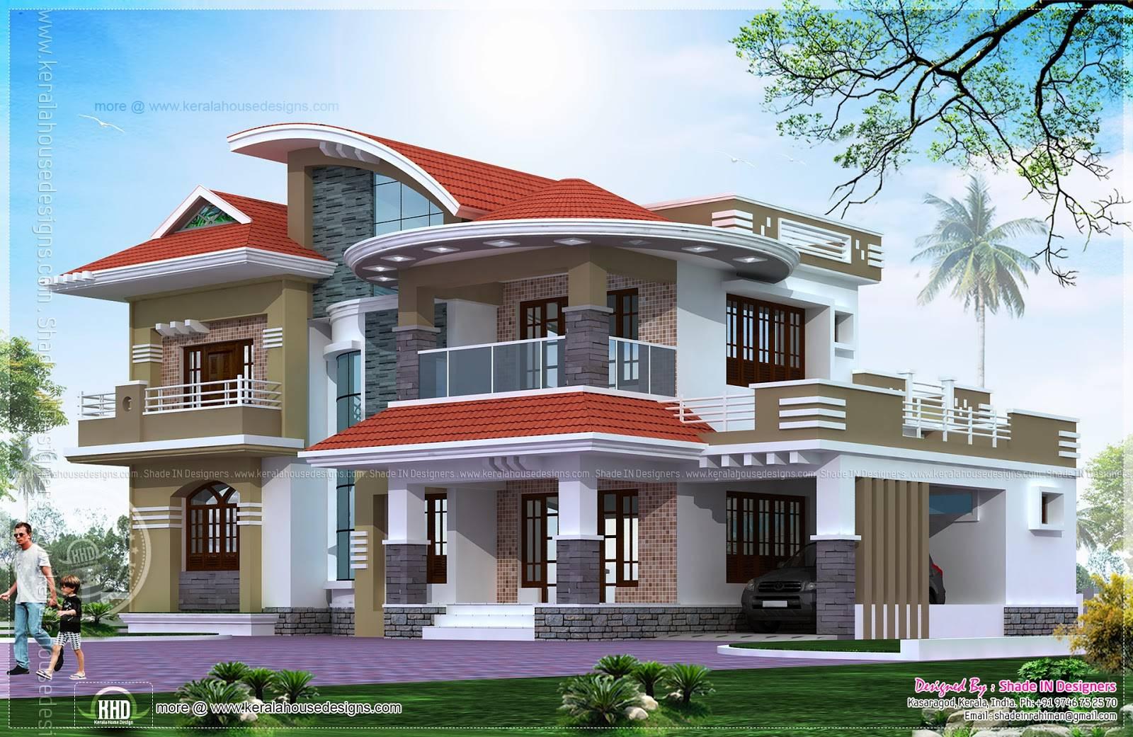 Bedroom Luxury House Kasaragod Home Kerala Plans