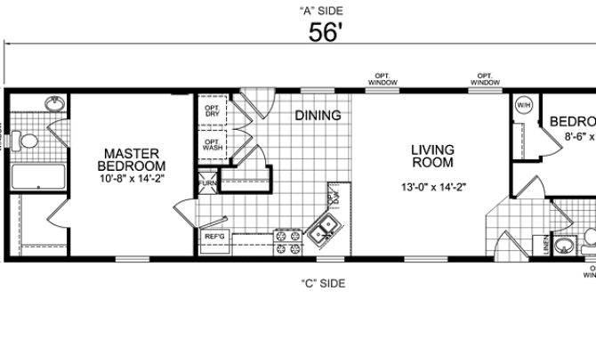 Bedroom Mobile Home Plans Homes Floor
