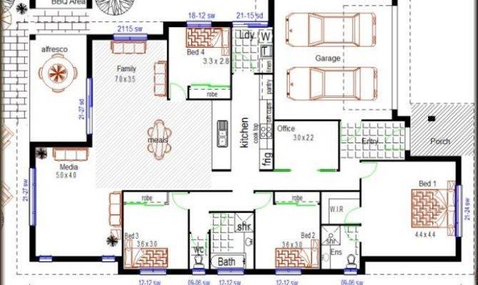 Bedroom Modern House Plans Homes Floor