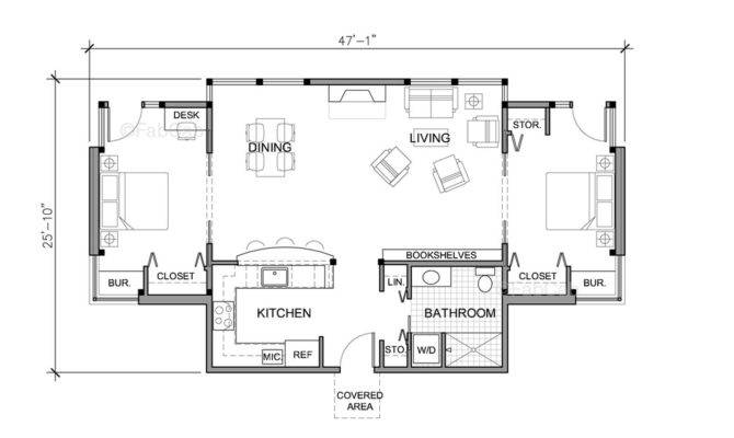 Bedroom One Story House Plans Home Deco