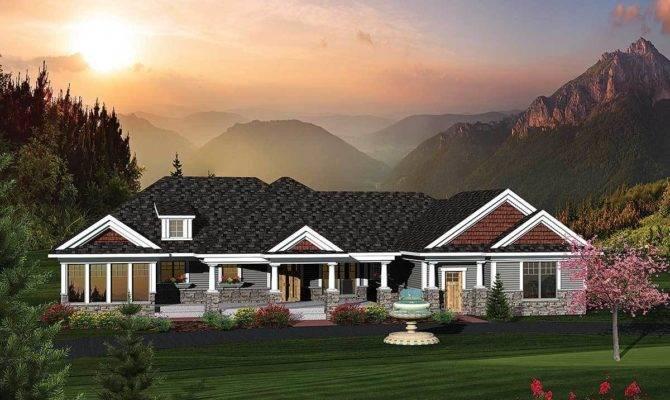 Bedroom Rambling Ranch Home Plan