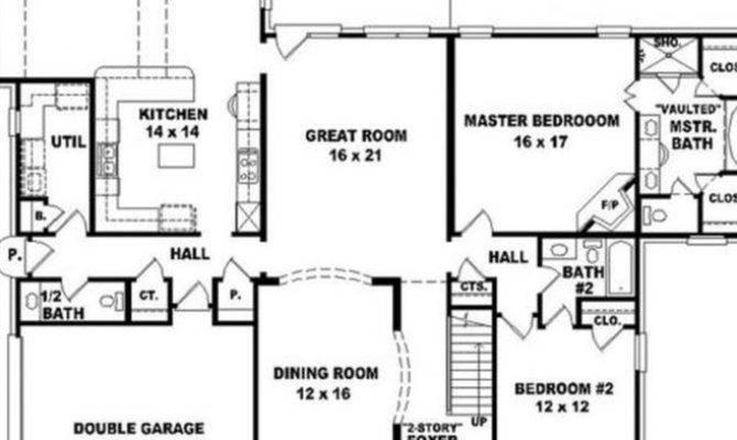 Bedroom Rectangular House Plan Design Plans