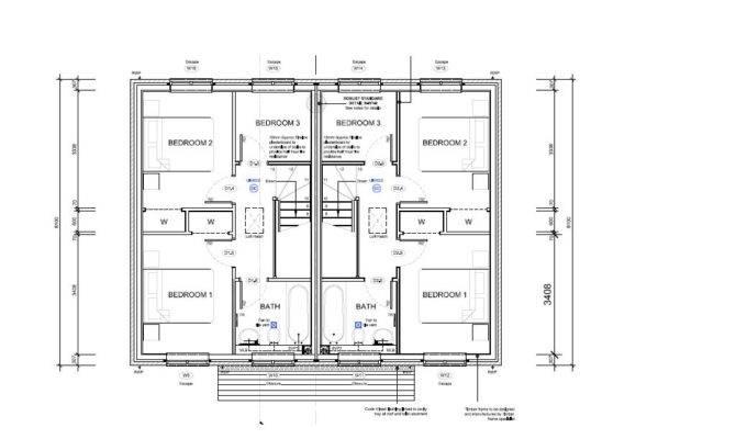 Bedroom Semi Detached House Plans