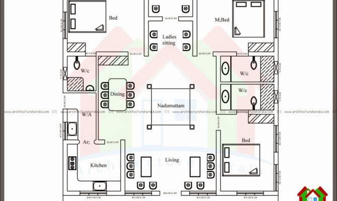 Bedroom Single Floor House Plans Kerala Plan