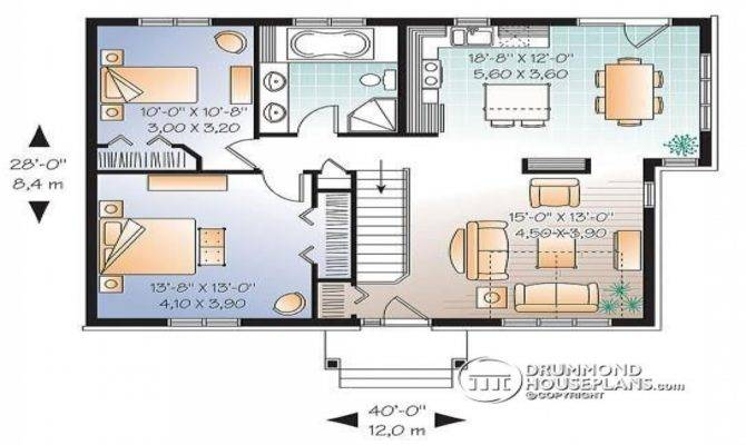 Bedroom Single Level House Plan Split Teen