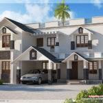 Bedroom Sloping Roof House Kerala Home Design Floor Plans