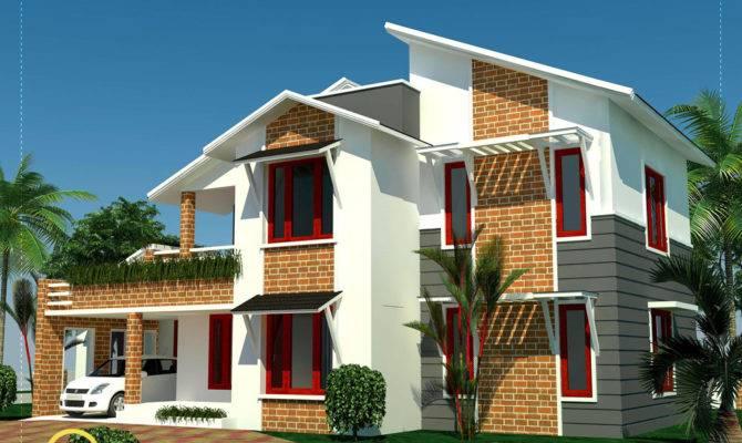 Bedroom Sloping Roof House Kerala