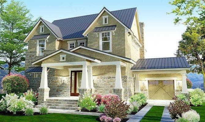 Bedroom Stone Farmhouse Plan Architectural