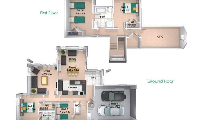 Bedroom Storey House Plans Home Design