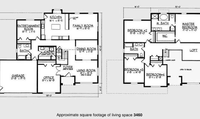 Bedroom Story House Floor Plans Best