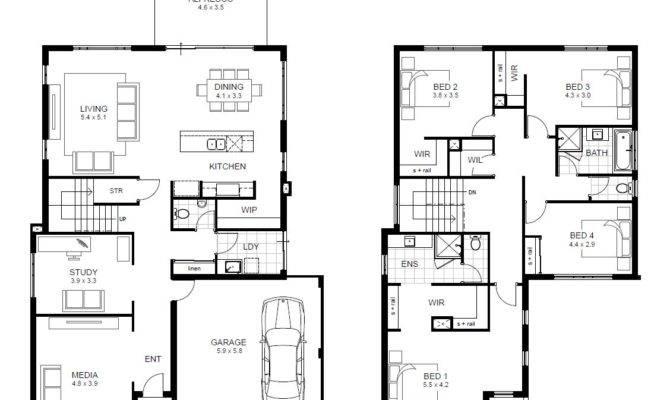 Bedroom Story House Plans Australia