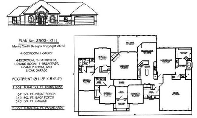 Bedroom Story House Plans Square Feet
