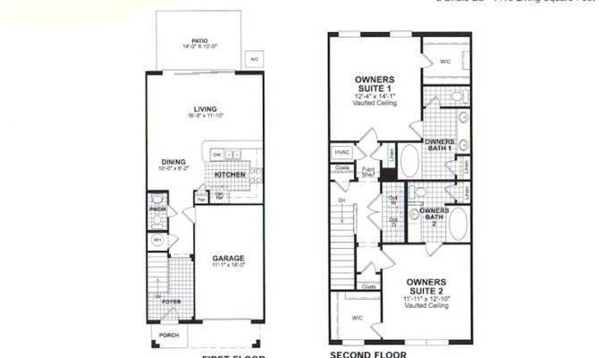 Bedroom Townhouse Floor Plans Garage Stonefield Bartram Park