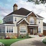 Bedroom Traditional House Plan Rustic Touches Two Master