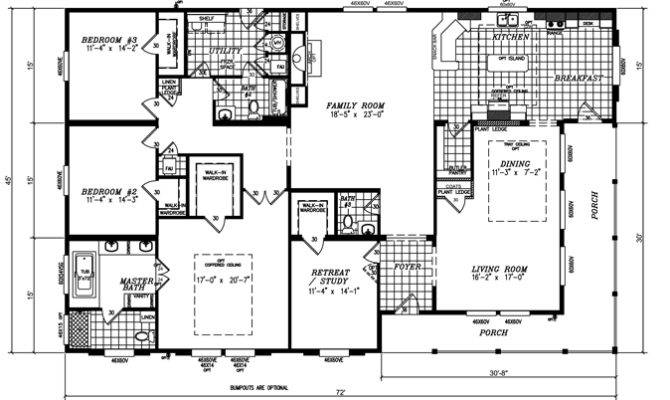 Bedroom Triple Wide Mobile Home Floor Plans Our