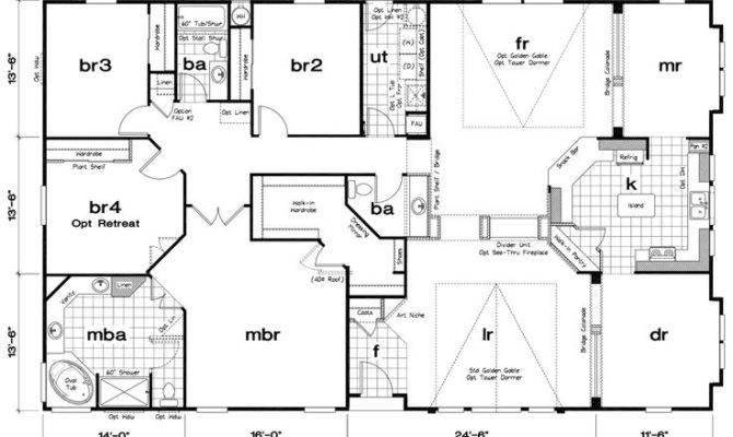 Bedroom Triple Wide Mobile Home Floor Plans