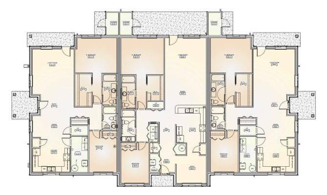 Bedroom Triplex Floor Plans