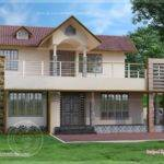Bedroom Two Storey Villa Exterior Home Kerala Plans