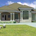 Bedroom Victorian House Bungalow Plan Nigeria