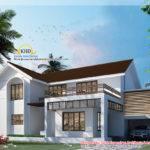 Bedroom Villa Elevation Kerala Home Design Floor