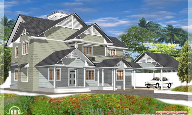 Bedroom Western Style House Kerala Home Design