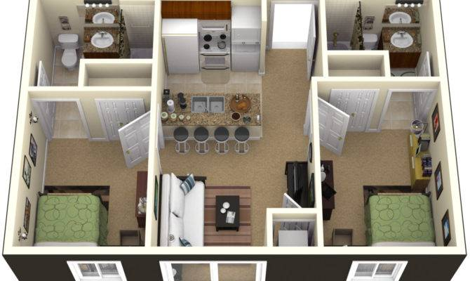 Bedrooms Simple House Designs Plan