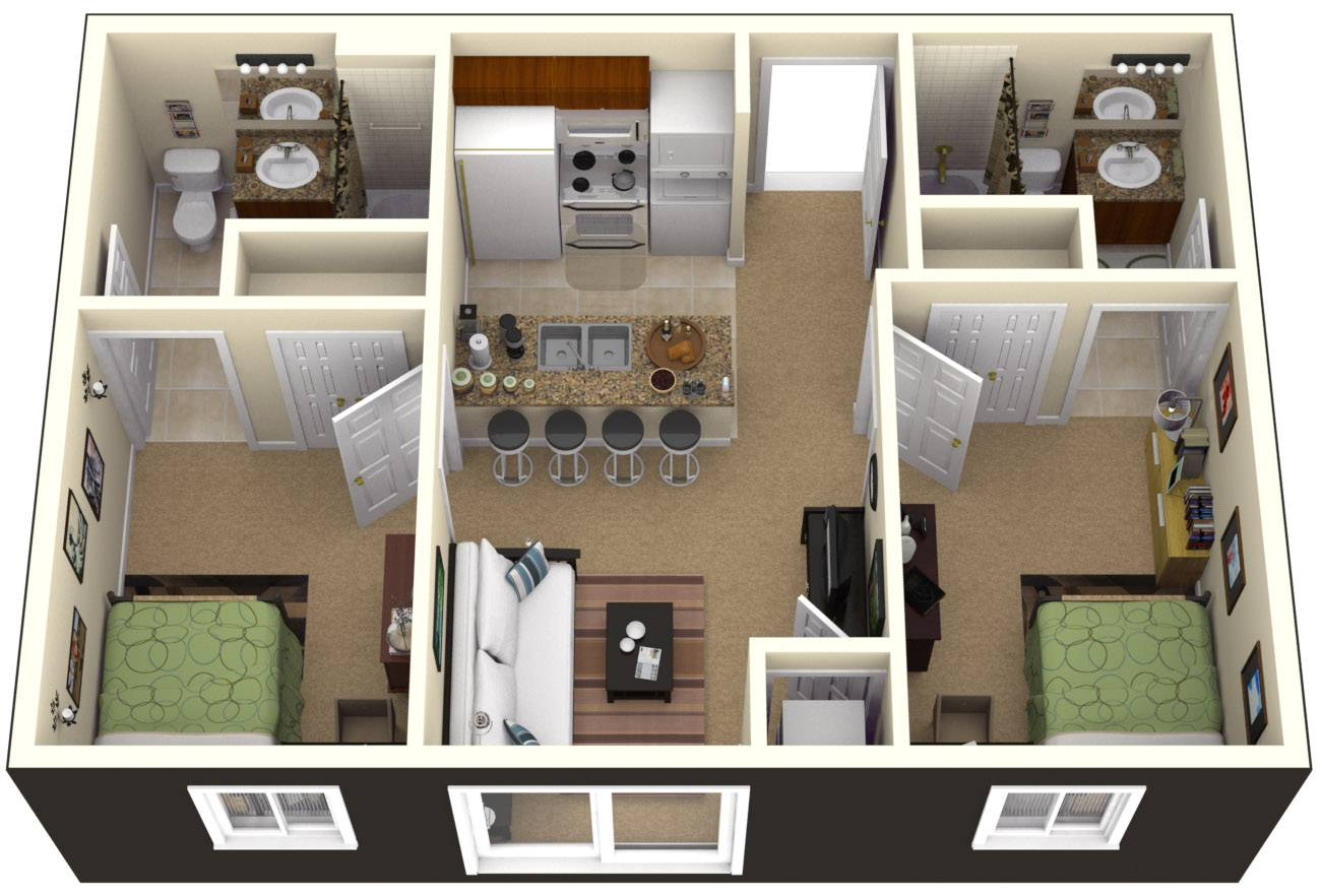 Bedrooms Simple House Designs Plan Home Plans Blueprints 91632
