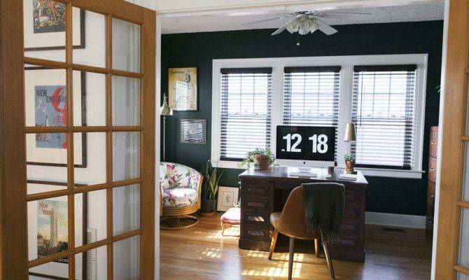 Before After Hunter Green Home Office Jessica Brigham