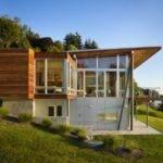 Beside Lake Modern Wooden House Design Olpos