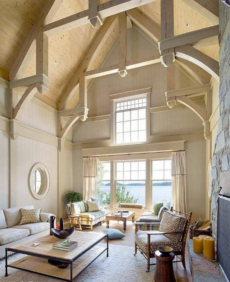 Best Cathedral Vaulted Ceiling Designs Living Rooms
